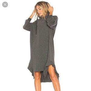 NSF Wren sweatshirt dress in Pigment Black